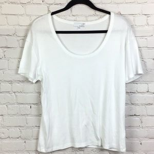 Ten Sixty Sherman.  Basic scoop neck white tee. XL